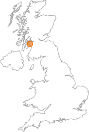 map showing location of Largs, North Ayrshire