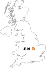 map showing location of LE16