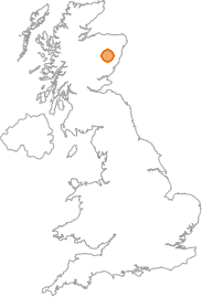 map showing location of Leys, Aberdeenshire