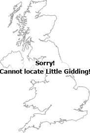 map showing location of Little Gidding, Cambridgeshire