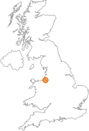 map showing location of Liverpool, Merseyside