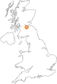 map showing location of Livingston, West Lothian