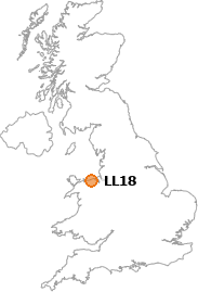 map showing location of LL18