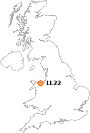 map showing location of LL22