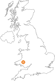 map showing location of Llandovery, Carmarthenshire