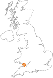 map showing location of Llantrithyd, Vale of Glamorgan