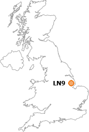 map showing location of LN9