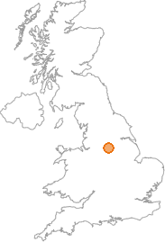 map showing location of Low Bradfield, South Yorkshire