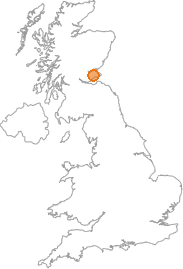 map showing location of Luthrie, Fife