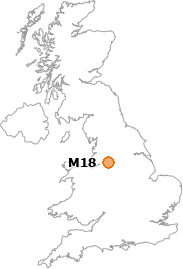 map showing location of M18