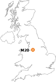 map showing location of M20