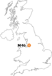 map showing location of M46