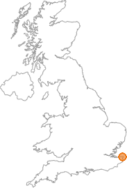 map showing location of Margate, Kent