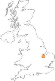map showing location of Marholm, Cambridgeshire