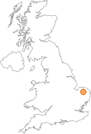 map showing location of Mattishall, Norfolk