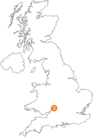 map showing location of Minsterworth, Gloucestershire