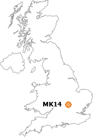 map showing location of MK14