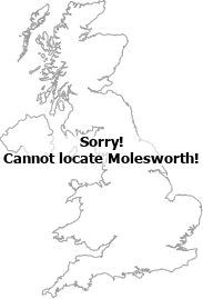 map showing location of Molesworth, Cambridgeshire