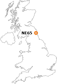 map showing location of NE65