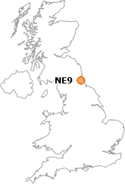map showing location of NE9