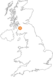 map showing location of Nethershield, East Ayrshire