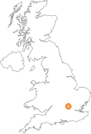 map showing location of New Mill, Hertfordshire