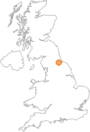 map showing location of Newton Aycliffe, County Durham