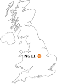 map showing location of NG11