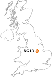 map showing location of NG13