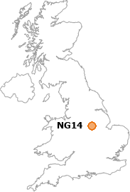 map showing location of NG14