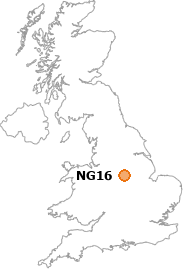 map showing location of NG16