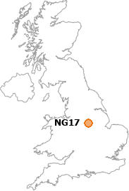 map showing location of NG17