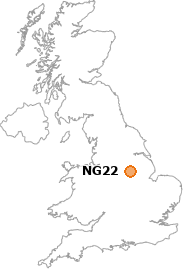 map showing location of NG22