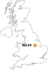 map showing location of NG24
