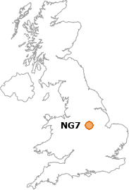 map showing location of NG7