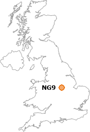 map showing location of NG9