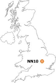 map showing location of NN10