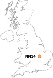 map showing location of NN14