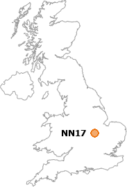 map showing location of NN17