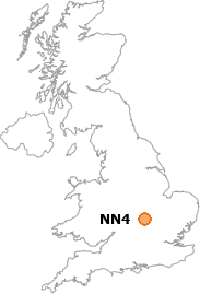 map showing location of NN4
