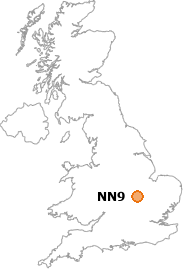 map showing location of NN9