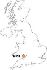 map showing location of NP4