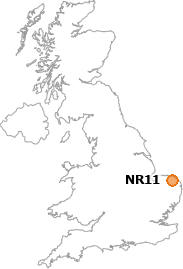 map showing location of NR11