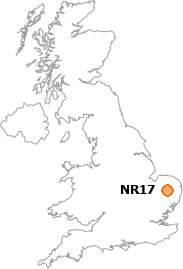 map showing location of NR17