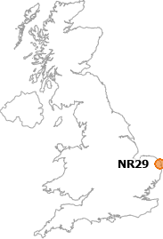 map showing location of NR29
