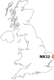 map showing location of NR32