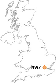 map showing location of NW7