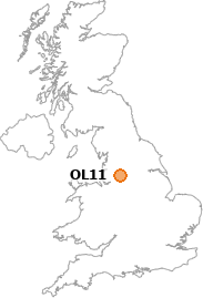 map showing location of OL11