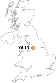 map showing location of OL13