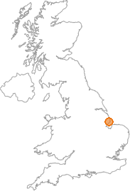 map showing location of Orby, Lincolnshire